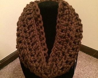 Handmade Crochet Cowl (Brown)