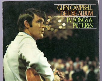 Glen Campbell - 1968?c. N Mint over 50 songs - Piano, chords and lyrics Organ Registrations -Many Pics of Glen & guests -  Wichita Lineman +