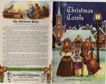 christmas carol booklet by akron dime bank 5x9 etsy
