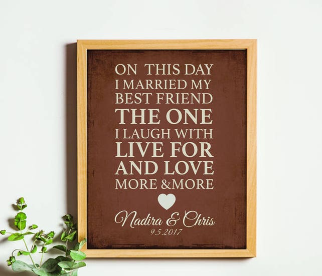 Personalized Gift For Husband Christmas Wife Anniversary Birthday Love Poem 9th