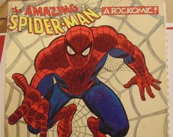 "Spider-Man Beyond the Grave Rockomic 1972 12"" LP Vinyl Record"