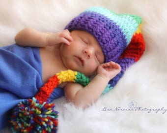 671236dca5d Rainbow Baby Elf Hat