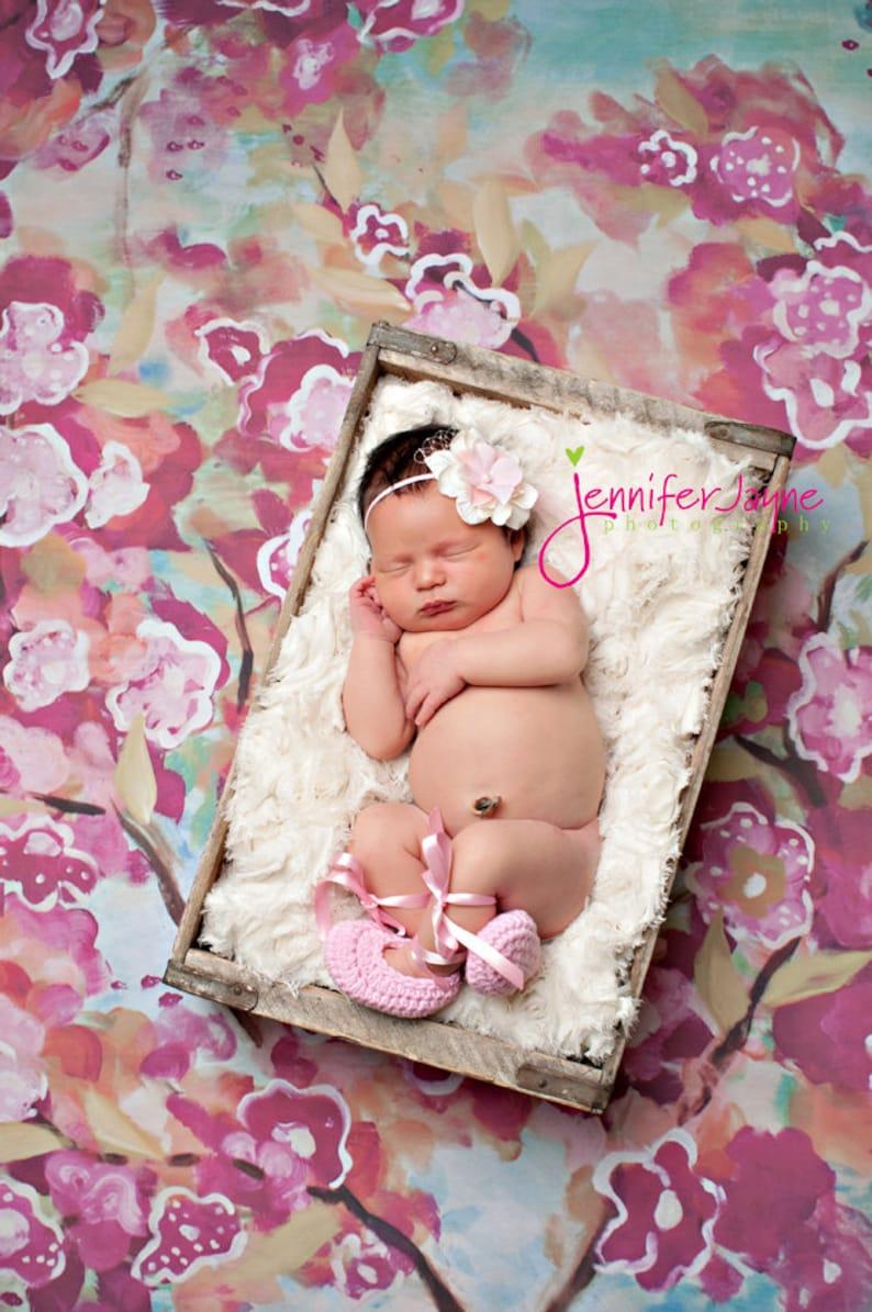 Ballet Slipper Crochet Photography Prop for Newborns