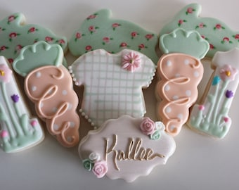 Some Bunny is One Sugar Cookies, first birthday sugar cookies,baby shower cookies, bunny cookies, Easter cookies