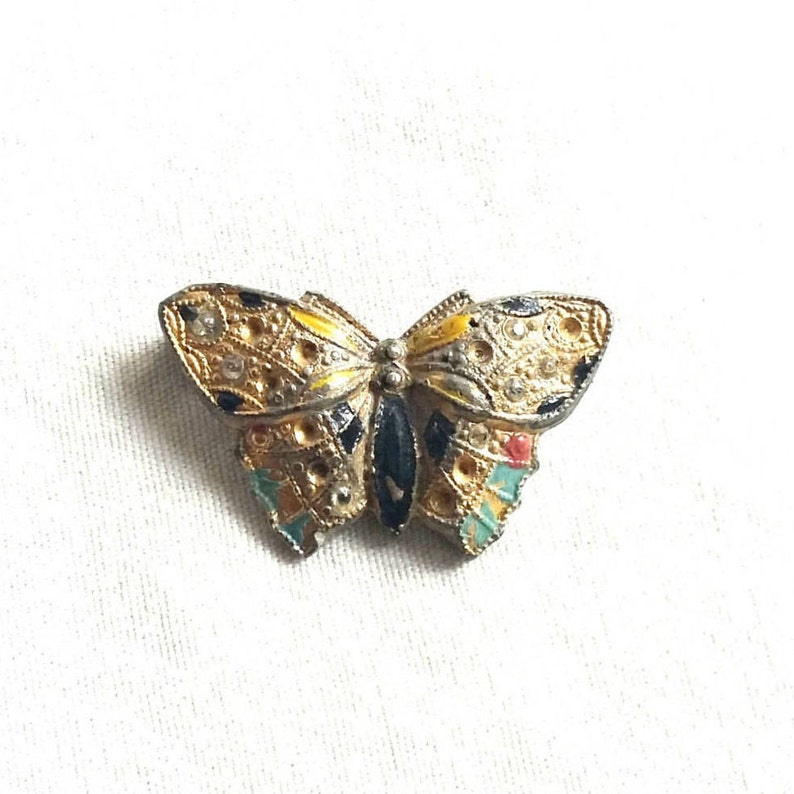 Fashion Jewelry Responsible Costume Brooch Gold/sliver Coloured Butterfly In Satin Box.