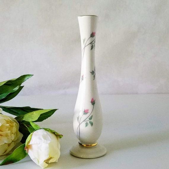 Lenox Vase Lenox Rose Manor Bud Vase Vintage Lenox Vase Etsy