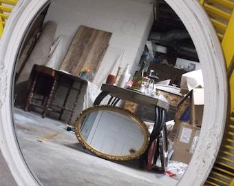 Ornate Vintage Oval Wall Mirror Large Vintage Upcycled Mirror