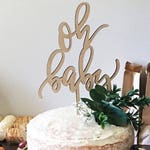 Oh Baby Cake Topper   Baby Shower Cake Topper   Party Decorations   cake topper   Laser Cut Wood Topper