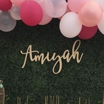 Personalized Name Sign, Custom Name Sign, Birthday Sign, Nursery Sign, Backdrop Sign, Wood Sign