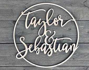 Custom Nursery Name Sign Wedding Sign Personalized Wood Cutout Calligraphy Name Sign Wood Letters Wall Art Wedding Party Decor Ornaments Home Decor