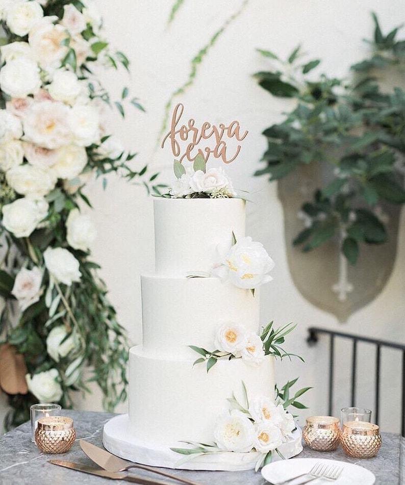 Foreva Eva Wedding Cake Topper 6.5W inches Forever image 0