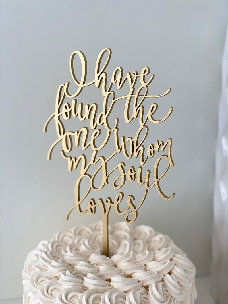 I have found the one whom my soul loves Wedding Cake Topper image 0