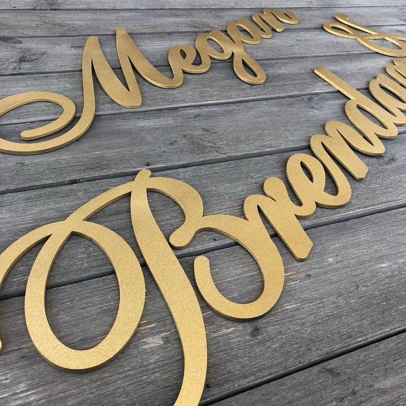 Custom Name Sign Wedding Name Sign Personalized Couples Name Sign Name1 /& Name2 3 pieces Backdrop Sign Version 2