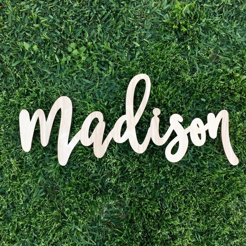 Personalized Name Sign Custom Name Sign Wooden Sign Laser image 0