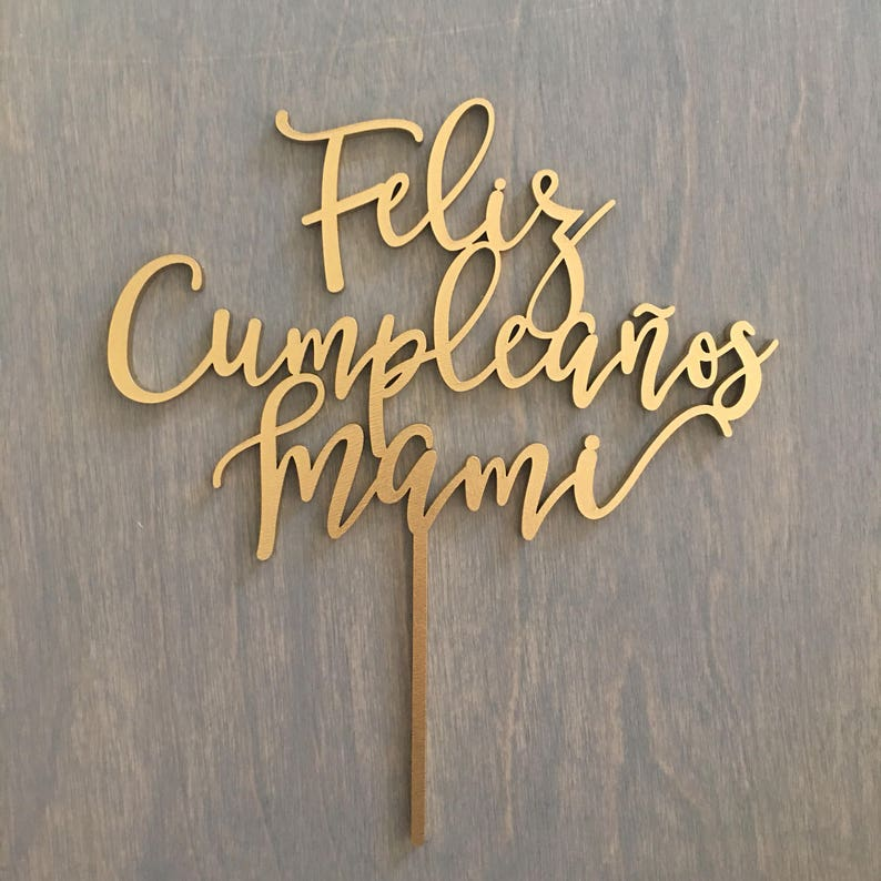 Feliz Cumpleanos Mami Cake Topper Happy Birthday Mom Cake image 0
