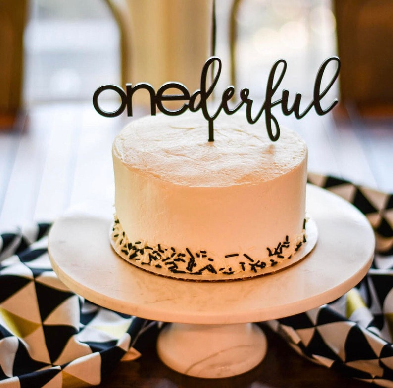 Onederful Cake Topper 8 inches wide One Cake Topper image 0
