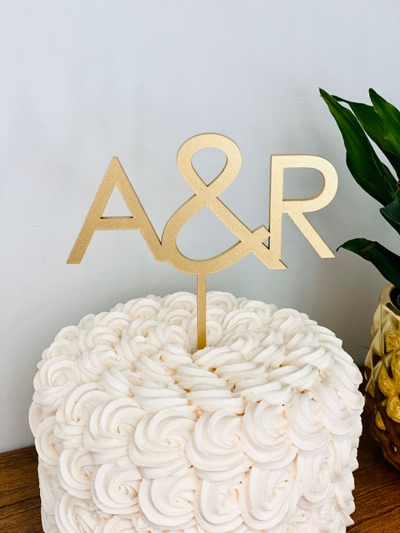 Cake Decoration Wedding Cake Topper Customize The couple/'s first Letter