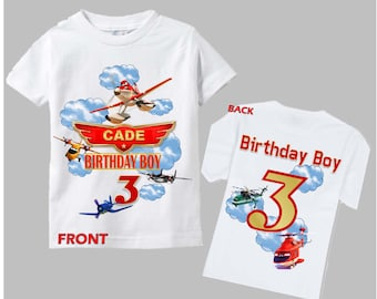 Planes Birthday Shirt - Planes Fire and Rescue Birthday Shirt