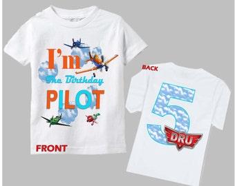 Planes Birthday Shirt - Disney Planes Shirt Front and Back