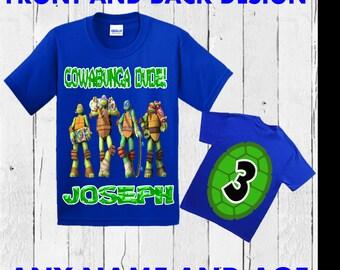 Ninja Turtle Birthday Shirt - TMNT Birthday Shirt - Teenage Mutant Ninja Turtles Shirt