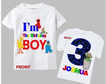 Sesame Street Birthday Shirt - Boys Sesame Street Birthday Shirt