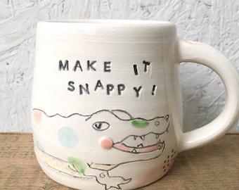 Make it snappy alligator mug