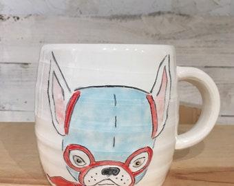 Dog Nacho Libre Mug ceramic handmade