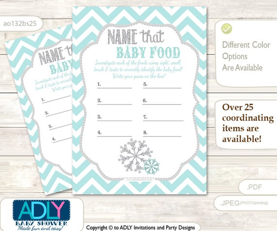 neutral snowflake name that food baby food guess game printable