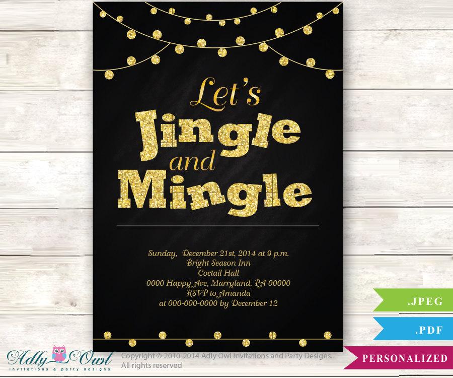 jingle and mingle holiday cheers invitation party nye etsy