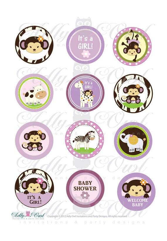 Cocalo Jacana Jungle Girl Baby Shower Printable Cupcake Etsy