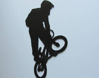 BMX Racer CNC Plasma Cut Indoor Outdoor Metal Wall Art Hanging