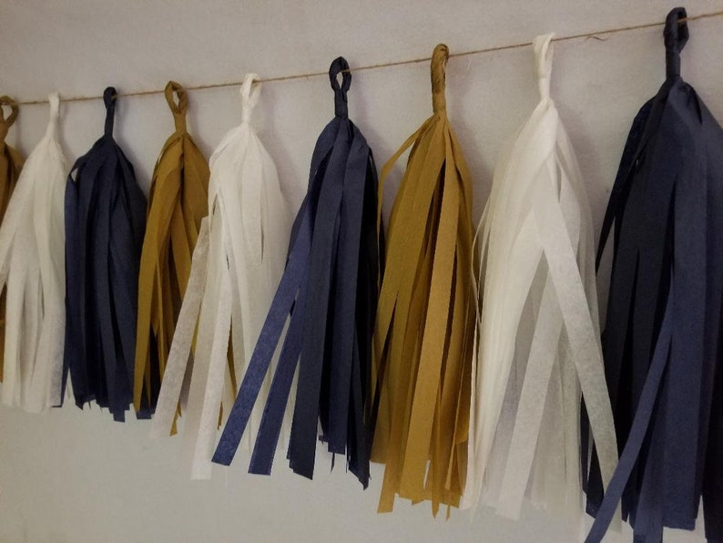 Only 14.99 Navy Blue Gold Rams Football Party Decorations 20 Tassel Los Angeles LA Rams Tissue Paper Garland LA Rams Banner Super Bowl