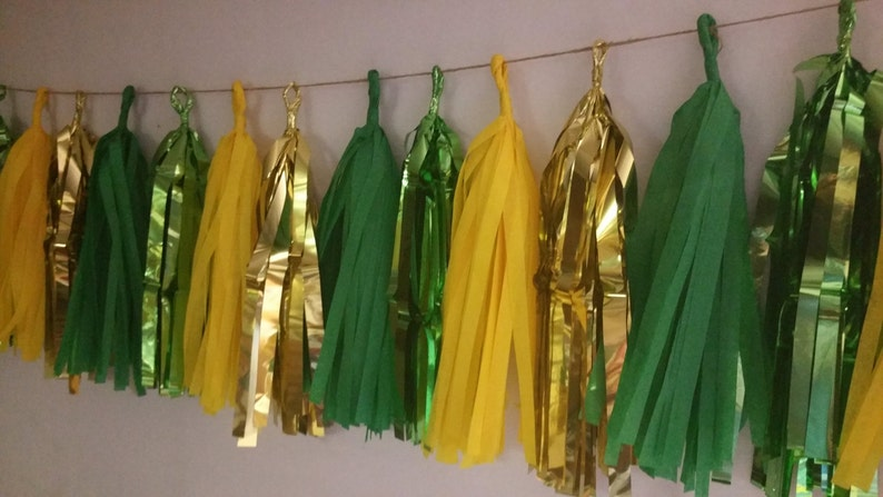 Only 15 99 20 Tassel Green Bay Packers Tissue Paper Garland Etsy