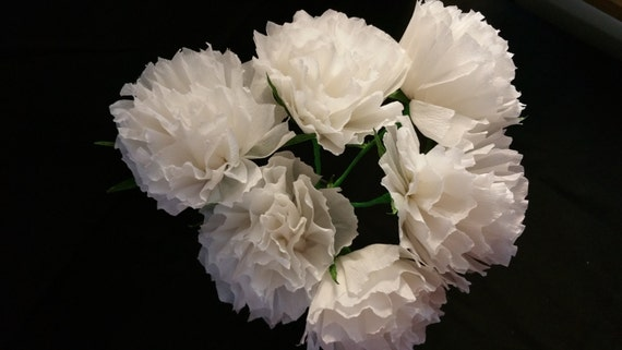 12 white crepe paper flowers mexican flowers white wedding etsy image 0 mightylinksfo