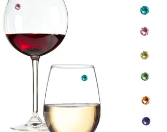 Drink Markers 3 Ties /& 3 Bows for Wine Glass Champagne Flutes Cocktails 6pcs Wine Glass Charms Markers Martinis
