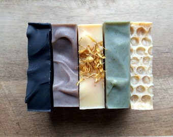 Pick 5 Bars and Save | Handmade Soap | Natural Soap | Vegan Soap | Soap Gift | Gift for Her | Lavender Soap Patchouli Soap Charcoal Soap