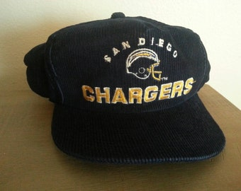 e1a2753717c 80s San Diego Chargers corduroy trucker snapback hat!