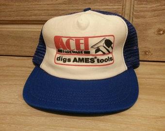 02e3811ea9b53 90s ACE Hardware mesh snapback hat!