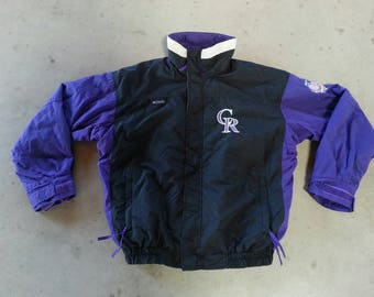 1990s Columbia Colorado Rockies coat with Fleece removable zip out liner!