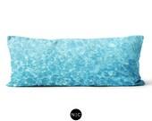 Crystal Oceans - Body Pillow, 20x54 Inch Lumbar Pillow, Ocean Blue Beach Surf Style Bedding Full Body Pillow Microfiber Rectangular Cushion