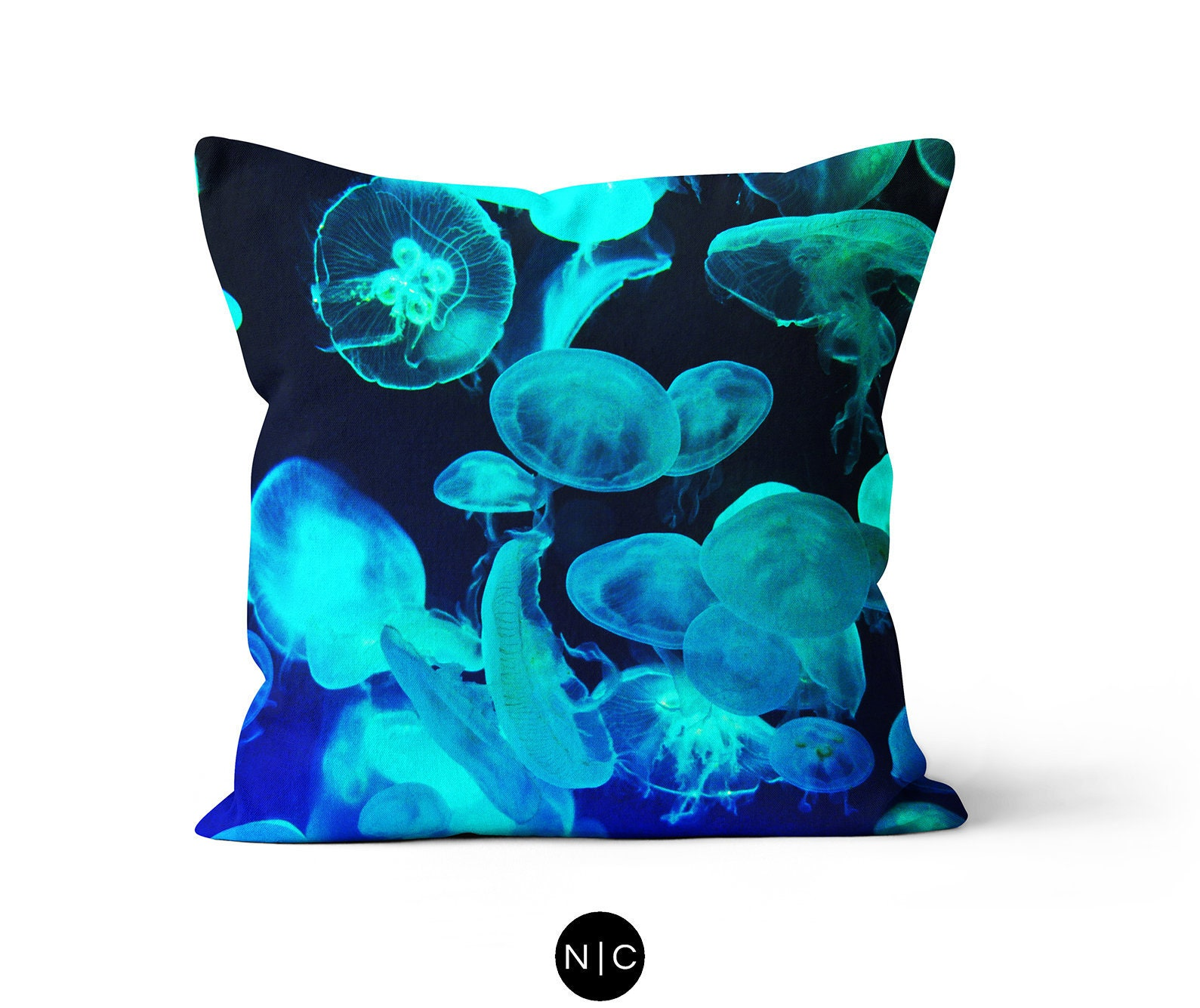 Canadian Inspired Home Decor Canada Pillow Via Etsy: Blue Moon Jellyfish Throw Pillow Nautical Style Home Decor