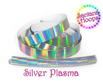 Silver Plasma Taped Performance Hula Hoop Polypro or HDPE