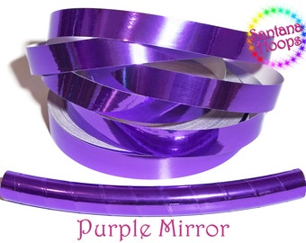 Purple Mirror Taped Performance Hula Hoop Polypro or HDPE