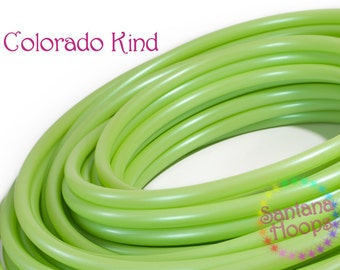 "5/8"" Colorado Kind Green HDPE Hula Hoop Button collapse"
