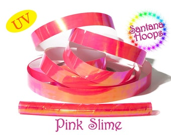 Pink Slime Translucent Color Shifting Taped Performance Hula Hoop Polypro or HDPE