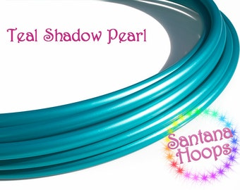 "5/8"" Teal Shadow Pearl PolyPro Hula Hoop Button collapse"
