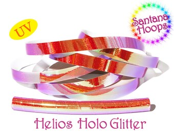 Helios Color shifting Morph Taped Performance Hula Hoop Polypro or HDPE UV Holo Glitter