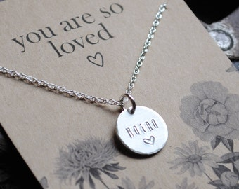 READY 2 SHIP . You Are So Loved  .  Personalized Name Necklace for Mother's Day
