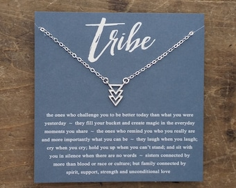 Sister Necklace Bridesmaids Jewelry Tribe Friendship Necklace Birthday for Your Besties Gift For Her