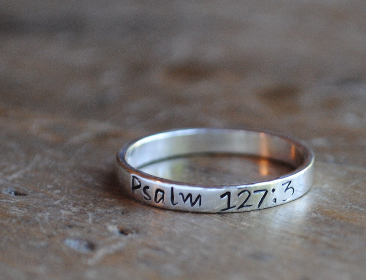 3b370d3ba9689 Sterling Stacking Ring . psalm 127:3 . Motivational Jewelry . Mothers ...